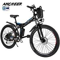 ANCHEER Elektrofahrräder 2020 Plus faltbares Mountainbike, 36V / 8Ah Lithiumbatterie, 26 '' Elektrofahrrad mit 250W Motor und Professional 21 Gang, E-Bikes für Männer, Frauen, Erwachsene.