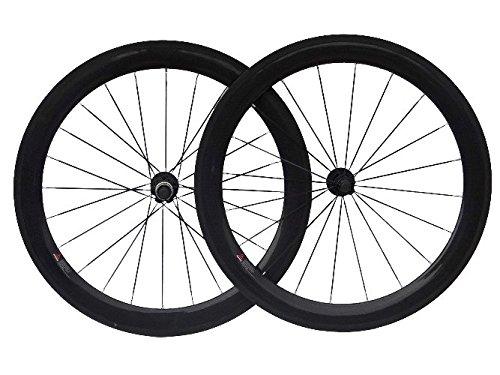 3K de carbono bicicleta de carretera Clincher wheelset 60mm para rueda de bicicleta Llantas Hub