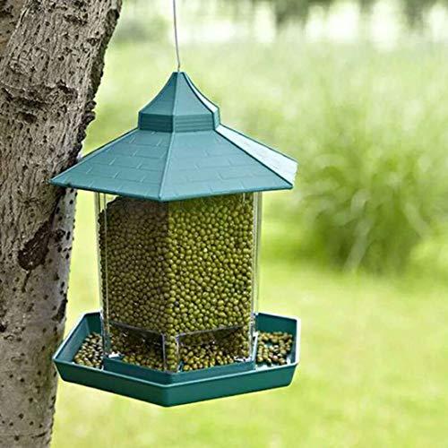Comedero pájaros colgar transparente forma casa comedero