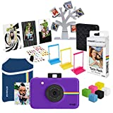 Polaroid Snap Cámara Digital instantánea (Purpura) Deluxe Paquete de Regalo