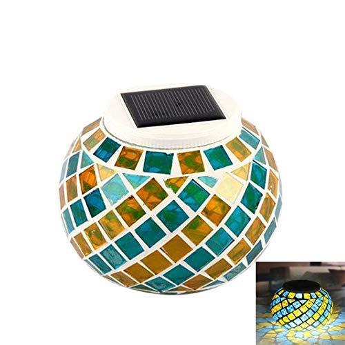 Wasserdichte Solarbetriebene Mosaik Solarleuchten, Farbwechsel Solar Tischleuchten, LED Magic Sunshine Ball Farbe ändernde Lovely Night Lights Party Lights Crystal Glass Globe Ball (Light Crystal Globe)