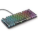 E-Element Z-88 Retro Mechanische Gaming Tastatur Vintage Schreibmaschinen-Stil mit austauschbarem mechanischem Schalter, RGB Hintergrundbeleuchtung, kompakte Tastatur 81 Tasten