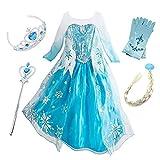 FStory&Winyee Mädchen Eiskönigin ELSA Anna Kostüm Cosplay Kinder Prinzessin Kostüm Kleid Karneval Party Verkleidung Halloween Fest Weihnachten Kleider