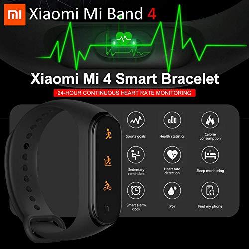 Nishci Mi Band 4 Watch, Xiaomi Band 4ta generación de Smart Watch Sports Mi Fitness Tracker con Pantalla a Color Bluetooth 5.0 Versión estándar Pulsera Inteligente