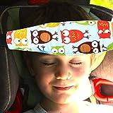 candyiren bebé niños asiento de coche cuello cabeza alivio apoyo banda con cinturón ajustable