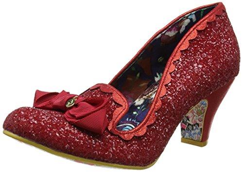 Irregular Choice Donna Kanjanka Closed-Toe Tacchi Red (Red)