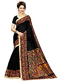 Indian Beauty Women's Kalamkari Khadi Silk Saree With Blouse