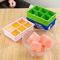 Aliciashouse 6 grate in Silicone cubo ghiaccio vassoio stampo budino