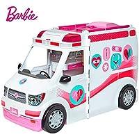 Barbie Ambulancia Hospital 2 en 1, Multicolor, 0 (Mattel FRM19)