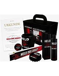 """Geschenkset """"Held der Arbeit"""" - das Ostprodukte Geschenk als Set mit 6 verschiedenen Ossi-DDR-Produkten - Geschenke für den Ostalgiker"""