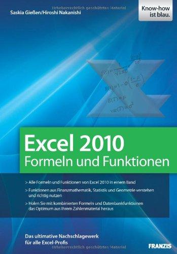 Excel 2010 Formeln und Funktionen Mathematik 2010