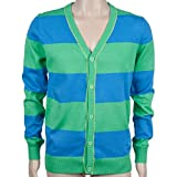 Puma Button Stripe Cardigan (groß, grün Brier)