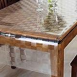 YANLILIU Tischdecke PVC Kristallplatte Matte Schutzmatte transparent weiches Glas Couchtisch Pad, 90*130cm