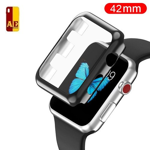 AE Mobile Accessories Apple Watch Series 1, 2 & 3 case, iwatch 1, 2 & 3 Case TPU All-Around 0.3mm Ultra-Thin Hard High Full Cover for New Apple Watch Series 1/2 / 3 (42mm)