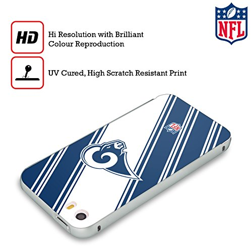 Ufficiale NFL Righe 2017/18 Los Angeles Rams Argento Cover Contorno con Bumper in Alluminio per Apple iPhone 5 / 5s / SE Righe