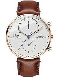 jianianhua IW Serier 8787–5g 30m Wasserdicht Ultrathin Case Schutzhülle Business Lederband Herren Quarzuhr Armbanduhr
