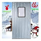 ZTMN Tenda per Porta Impermeabile Invernale isolata termicamente con Tende per pareti divisorie in PVC, Decorazione per la casa all'aperto, 2 cm di sfondamento (Colore: Grigio, Dimensioni: 100x22