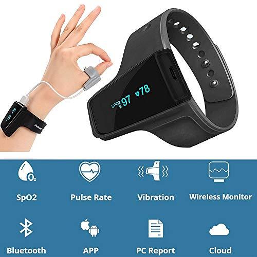 HUIGE SpO2 Pulse Oximeter Alarm Sleep Monitor mit Anti-Schlankschlaf-Hilfe für Obstruktive Schlafapnea und Herzfrequenz-Monitor