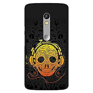 Bhishoom Designer Printed Back Case Cover for Motorola Moto X Play (Skeleton :: Audio Cassette :: Party :: Skull :: Music)