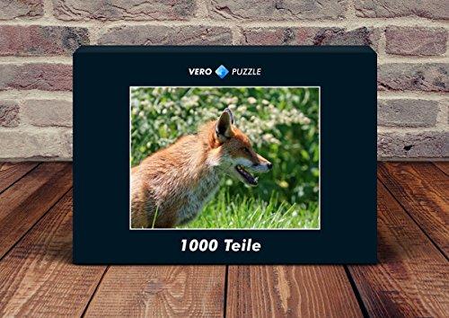 VERO PUZZLE 45733 Tierwelt - Fuchs, 1000 Teile in hochwertiger, cellophanierter Puzzle-Schachtel