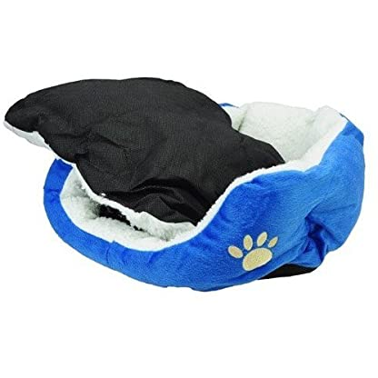 Gift New Coffee Warm Soft Fleece Pet Dog Cat Bed House with Mat Soft Pad Mat 3