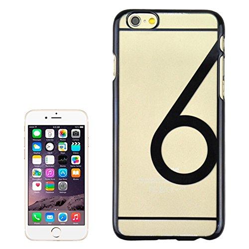 Num 6 Pattern Ultra-dünne Plating Skinning Schutzhülle für iPhone 6 Plus & 6S Plus by diebelleu ( Color : Black ) Black