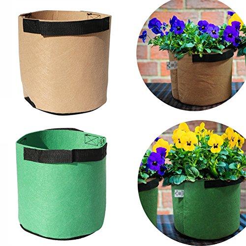 Adhere To Fly 5 Stücke Vlies Kartoffel Pflanzsäcke Blume Pflanzen Gemüse Wachsen Tasche