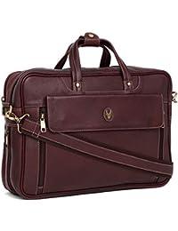 WildHorn 100% Genuine Leather Brown 15.5 inch Laptop Messenger Bag for Men  Dimension   L 838f0b15beb3d