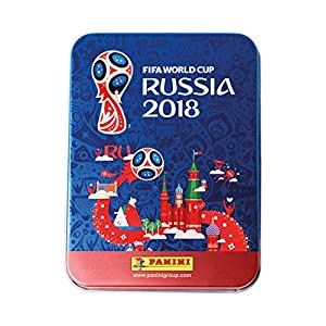 Panini - Mundial Rusia 2018 Caja metálica con 5 sobres (25 stickers)