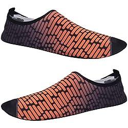 F Fityle 1 Par de Zapatillas de Correr Mujer Delgadas y Antideslizantes, Zapatillas para Surf, Yoga, Pilates, Gimnasio y Ejercicios - Naranja, 39-40