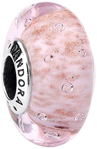 Charm pandora vetro di murano rosa brillante