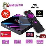 Android 9.0 PHANTIO H96 MAX Smart TV Box : JIO TV Hotstar 4GB RAM 32GB ROM RK3318 Quad core BT4.0 USB3.0 (4GB / 32GB)