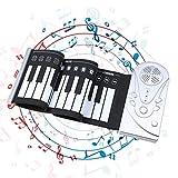 SH-CJ Rock'n'Roll-Piano, 49 Tasten Faltbares Piano, flexibel, tragbar, weiches, elektrisches Digital-Rollup-Keyboard