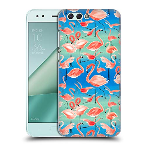 Head Case Designs Offizielle Ninola Flamingos Muster Ruckseite Hülle für Zenfone 4 ZE554KL