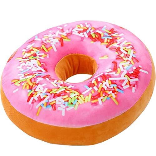 Adkwse Donut Soft Kissen Schokoladen Plüsch Zierkissen,Kuschelkissen