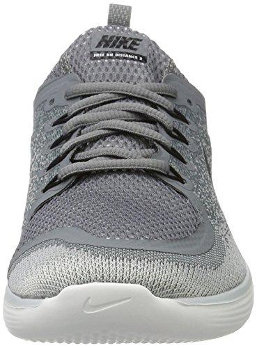 Nike Free RN Distance 2, Scarpe da Corsa Uomo Grigio (Cool Grey /Black/ Wolf Grey/ Stealth)
