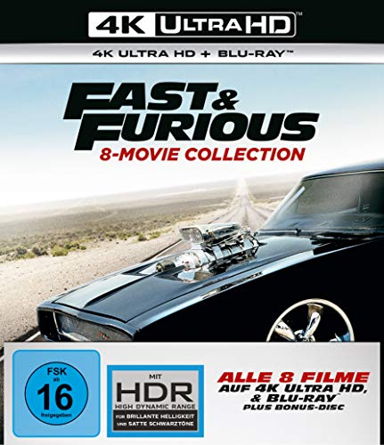 Fast & Furious - 8-Movie Collection - 4K UHD [Blu-ray] -