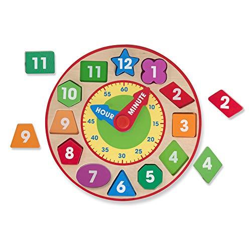 Melissa & Doug Shape Sorting Clock (2013),Multi Color
