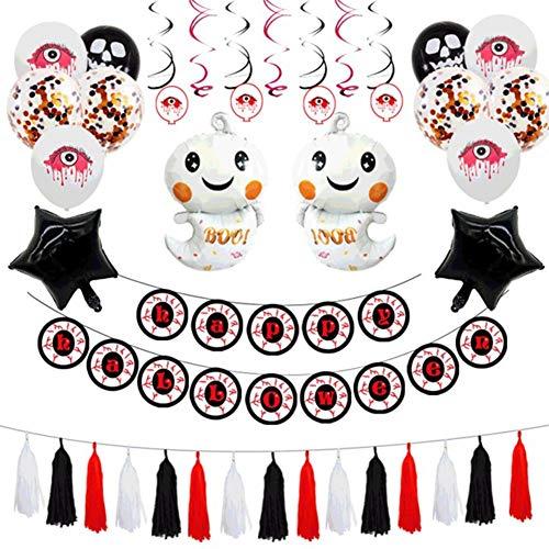 MENG Decorazioni per Interni per Feste in Famiglia di Halloween?Palloncini in Lattice Pacchetto di Decorazioni Pacchetto Bar Palloncino for Feste Completo di Bar KTV