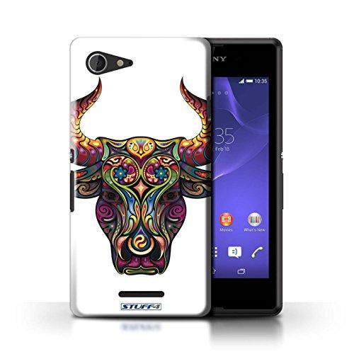 Kobalt® Imprimé Etui / Coque pour Sony Xperia E3 / Chouette conception / Série Animaux décoratifs Taureau