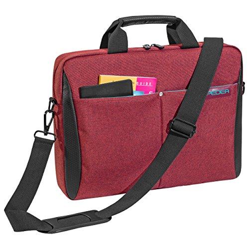 """PEDEA """"Lifestyle"""" Notebooktasche für 17,3 Zoll (43,9cm) mit Zubehörfach/Schultergurt, rot"""