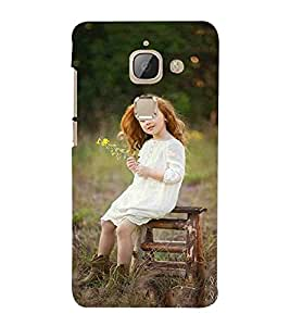 For LeEco Le Max 2 :: LeTV Max 2 beautiful girl, girl on chair, girl and yellow flower Designer Printed High Quality Smooth Matte Protective Mobile Case Back Pouch Cover by APEX