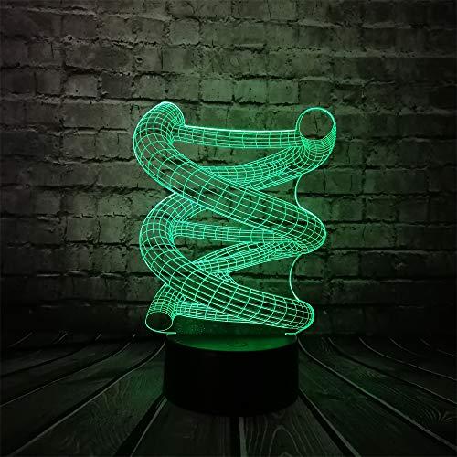WangZJ 3d Lampe Optische Täuschung/led Nachtlicht / 7 Farben Lampen/acryl Flach/abs Basis/usb Gebühr Für Wohnkultur/Doktor Prop RC Rc Notebook
