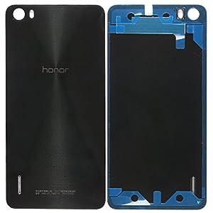 Original Huawei Akkudeckel black / schwarz für Huawei Honor 6 (Akkufachdeckel, Batterieabdeckung, Rückseite, Back-Cover)