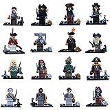 Minifiguras Custom Compatibles Piratas del Caribe set 16 minifiguras