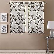 Queenzliving Mayfair Curtain, Window 5 feet- Pack of 2, Grey