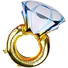 Blesiya Globo de Aluminio Anillo Azul Suministro de Fiesta de Boda Accesorio de Casamiento San Valentín