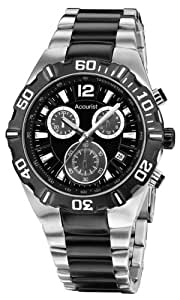 Accurist Men's Quartz Watch with Black Dial Chronograph Display and Multicolour Stainless Steel Plated Bracelet MB832BW