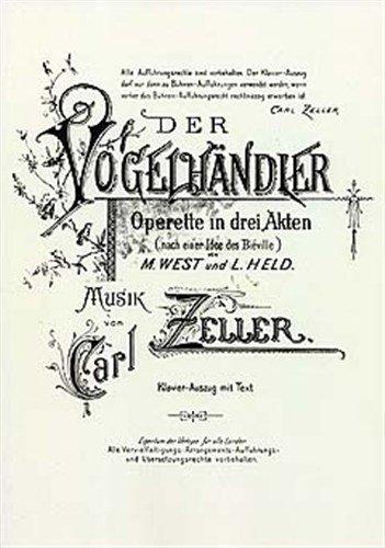 carl-zeller-der-vogelhandler-vocal-score-for-opera-coro