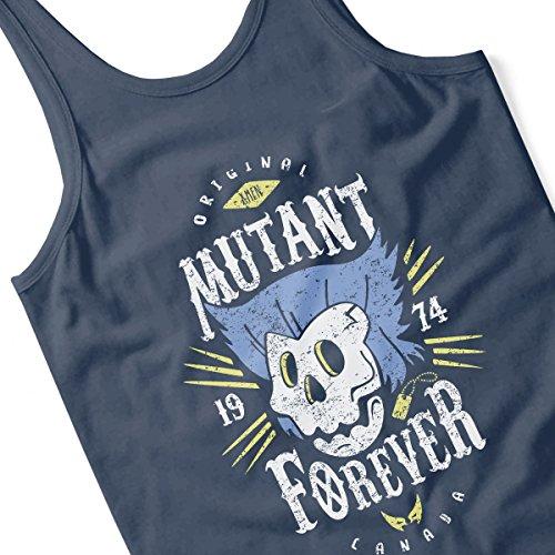 Mutant Forever Wolverine X Men Women's Vest Navy blue